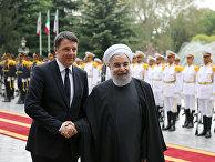 Президент Ирана Хасан Рухани и премьер-министр Италии Маттео Ренци