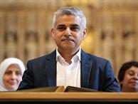 Мэр Лондона Садик Хан во время церемонии принятия присяги