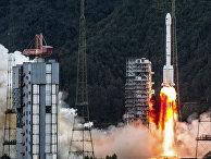 Запуск китайской орбитальной ракеты-носителя Long March-3B