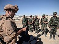 Обучение сирийских солдат поисковой тактике и обнаружению взрывных устройств