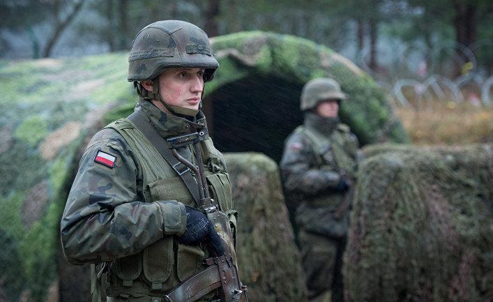 Военные учения на полигоне в Дравско-Поморске в Польше