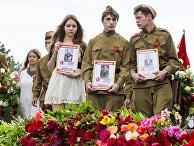 Участники шествия «Бессмертный полк» в Кишиневе