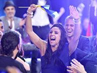 Джамала празднует победу в международном конкурсе «Евровидение-2016»