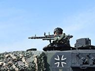 Немецкий танк «Леопард» во время учений Strong Europe Tank Challenge