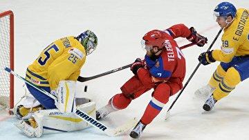 Хоккей. Чемпионат мира. Матч Россия - Швеция