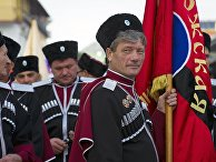 Казаки на праздновании Дня города Судака в Крыму