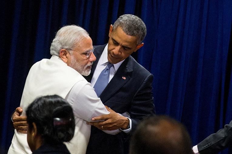 Барак Обама и Нарендра Моди во время 70-й сессии Генеральной ассамблеи ООН