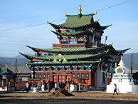 Буддийский монастырский комплекс Иволгинский дацан в Бурятии