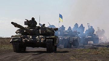 Танки украинской армии в Донецкой области