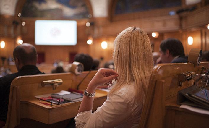 Во время заседания в Риксдаге