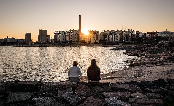 Закат в Хельсинки