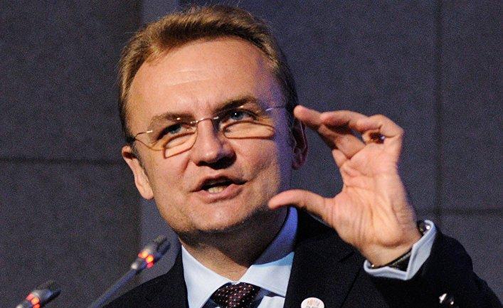 Лидер партии «Самопомощь» Андрей Садовой на презентации политической программы партии