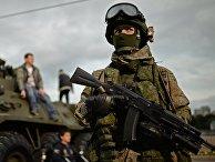 Военнослужащий на фестивале «Армия России»
