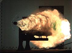 Испытания рельсотрона в Naval Surface Warfare Center