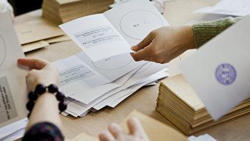 Подсчет бюллетеней в президентских выборах