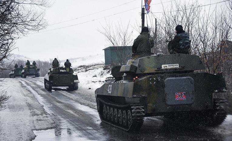 Пророссийские ополченцы движутся в сторону Славяносербска
