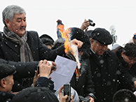 Митинг казахстанской оппозиции в Алма-Ате