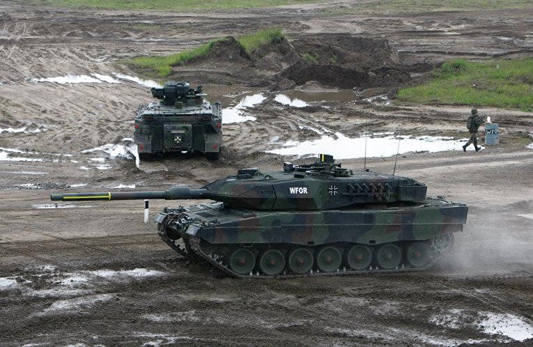 Немецкий танк Leopard 2