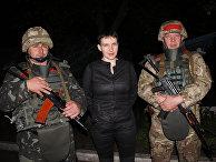 Народный депутат Украины Надежда Савченко в Славянске