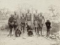 Выжившие гереро после перехода через пустыню