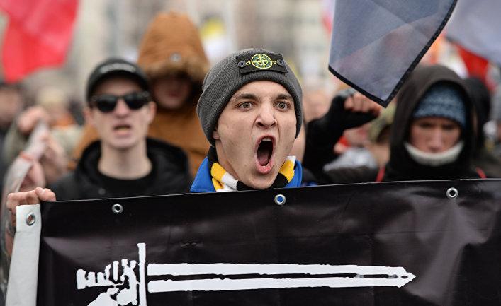 """Акция """"Русский марш"""" в Москве"""