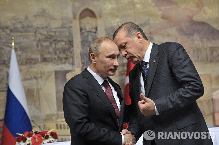 Владимир Путин и Тайип Эрдоган