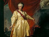 Екатерина II в виде Законодательницы в храме богини Правосудия