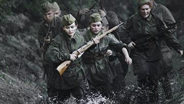 Сцена из фильма «Битва за Севастополь» режиссера Сергея Мокрицкого