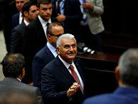 Премьер-министр Турции Бинали Йылдырым на заседании парламента, 14 июня 2016 года
