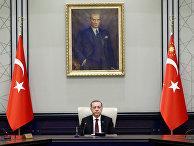 Президент Турции Тайип Эрдоган возглавляет заседание кабинета министров в Анкаре