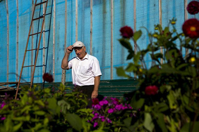 Григорий Андреевич, житель поселка Отрада на острове Кунашир