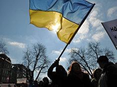 Участники акции протеста в Украине
