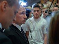 Президент России Владимир Путин в Немецкой школе при посольстве Германии в Москве