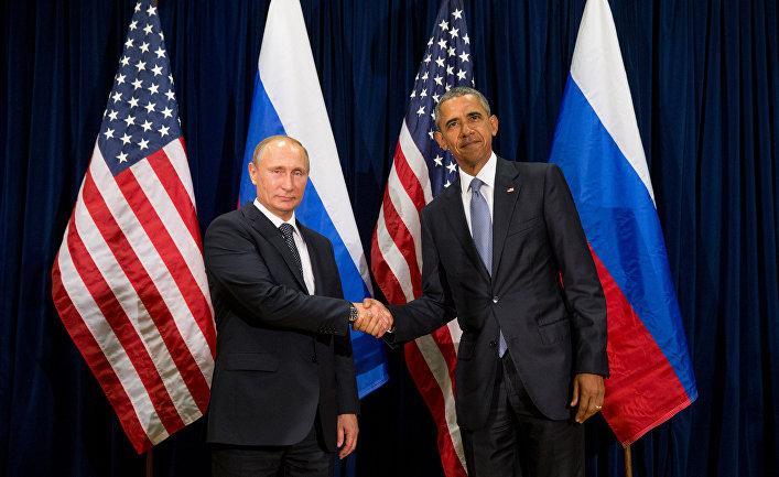 Владимир Путин и Барак Обама на 70-й сессии Генассамблеи ООН