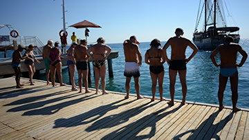Российские туристы в Анталье