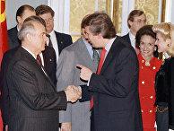Михаил Горбачев и Дональд Трамп в Государственном Департаменте в Вашингтоне