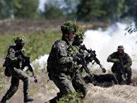Солдаты польской армии принимают участие в военных учениях НАТО Saber Strike
