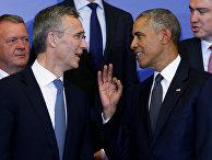 Президент США Барак Обама и генеральный секретарь НАТО Йенс Столтенберг