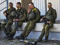 Силы обороны Эстонии совместно с союзниками НАТО во время военных учений «Весенний шторм»