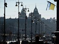 Вид на улицу Крещатик в Киеве