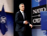 Генеральный секретарь НАТО Йенс Столтенберг после заседания Совета Россия - НАТО
