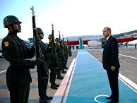 Президент Турции Реджеп Тайип Эрдоган в аэропорту Стамбула перед вылетом на саммит НАТО в Варшаву
