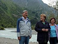 Канцлер Германии Ангела Меркель и президент Киргизии Алмазбек Атамбаев