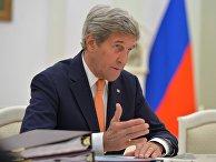 Рабочая встреча президента РФ Владимира Путина с государственным секретарем США Джона Керри