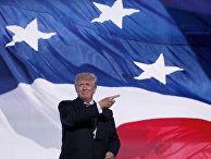 Кандидат в президенты США Дональд Трамп на съезде Республиканской партии в Кливленде