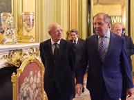 Министр иностранных дел РФ Сергей Лавров и министр иностранных дел Португалии Аугушту Сантуш Силва