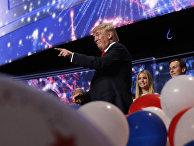 Кандидат в президенты США Дональд Трамп на съезде Республиканской партии