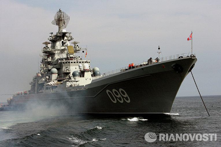 Совместный выход в море кораблей разных флотов для отработки задач боевой подготовки во Владивостоке