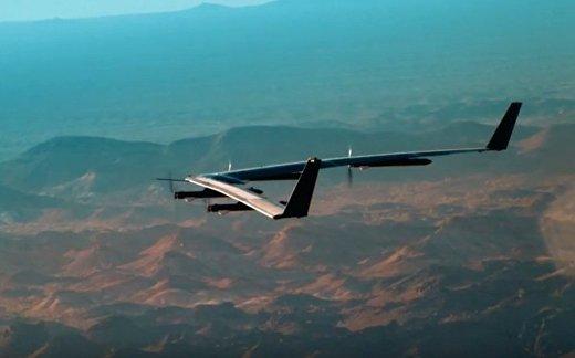 Facebook: испытание беспилотника на солнечных батареях