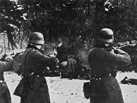 Расстрел польских граждан подразделением вермахта в 1939 году